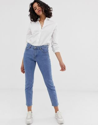 Dr Denim Edie High Waisted Slim Mom Jean
