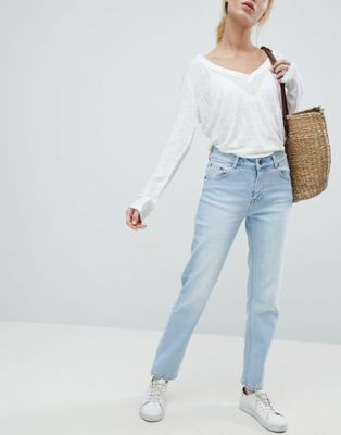 Bild 1 av Dr Denim – Edie – Korta mom-jeans