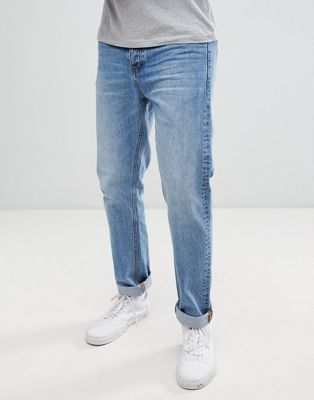 Dr Denim Gus relaxed straight jeans in light blue wash