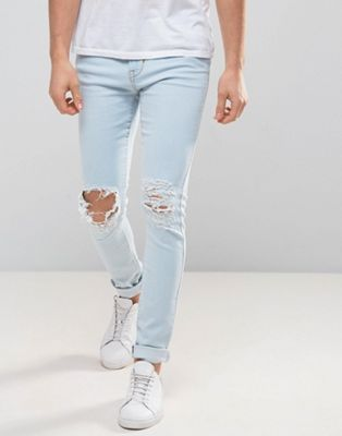 Image 1 of Dr Denim Leroy Ripped Super Skinny Jeans
