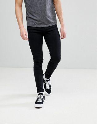 Dr Denim – Leroy – Slitna svarta jeans med extra smal passform