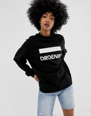 Image 1 of Dr Denim Luna logo sweatshirt