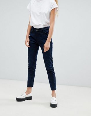 Dr Denim Pepper high rise jean in marble wash