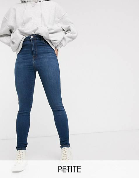Dr Denim Petite – Moxy – Jeans mit superhoher Taille