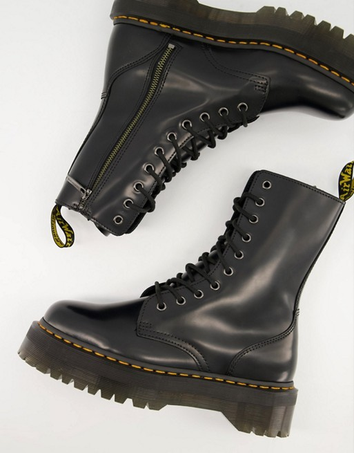 Dr Martens 10 eye Jadon hi boots in black