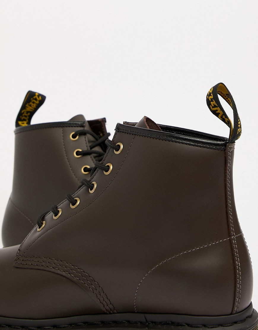 Dr Martens 101 6 Eye Boots In Chocolate by Dr Martens