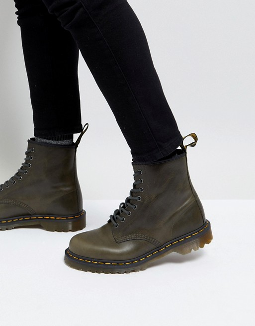 Image 1 of Dr Martens 1460 8-eye boots in dark taupe