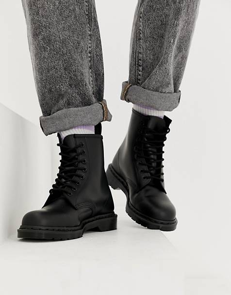 Dr Martens 1460 mono 8-eye boots in black