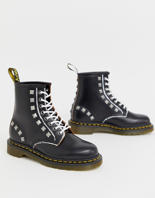 genuine shoes best loved finest selection Dr Martens 1460 stud leather ankle boots in black