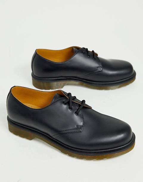 Dr Martens – 1461 PW – 3-Ösen-Schuhe in Schwarz