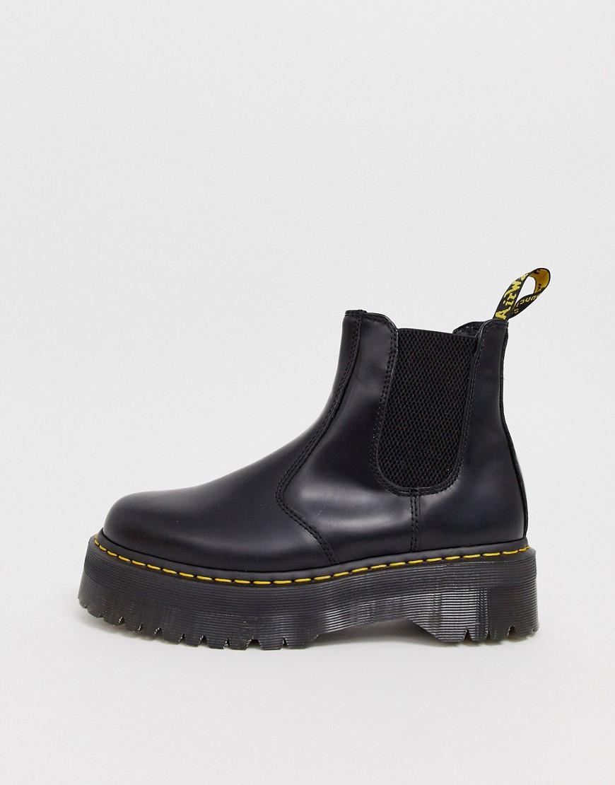 Dr Martens 2976 platform chelsea boots in Black