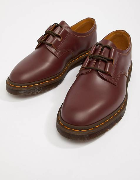 Dr Martens Henton Ghillie shoes in oxblood