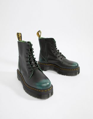 Dr Martens Jadon 8-eye zip boots in green