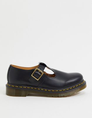 Dr Martens – Polly – Flache Mary-Janes in Schwarz