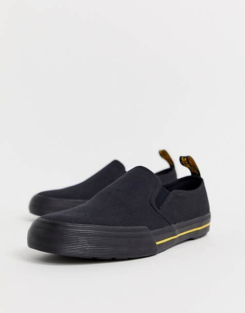 Dr Martens Toomey slip on plimsolls in black canvas