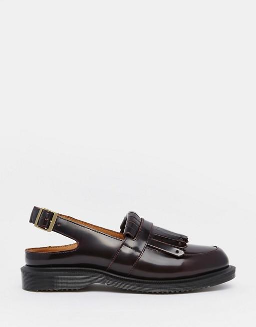 de31c0fa1da Dr Martens Valentine Cherry Red Slingback Tassel Loafer Flat Shoes ...