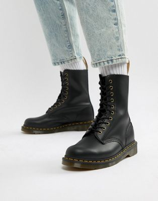Dr Martens Vegan 1490 10-eye boots in black