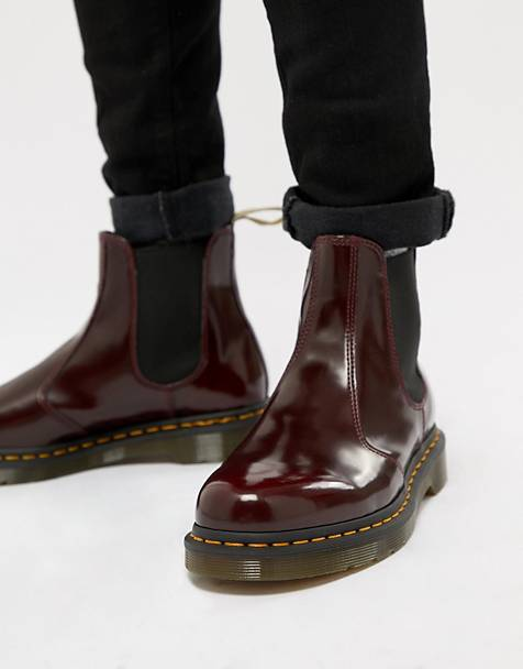 Dr Martens vegan 2976 chelsea boots in red