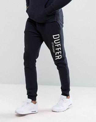 Duffer Skinny Joggers In Black