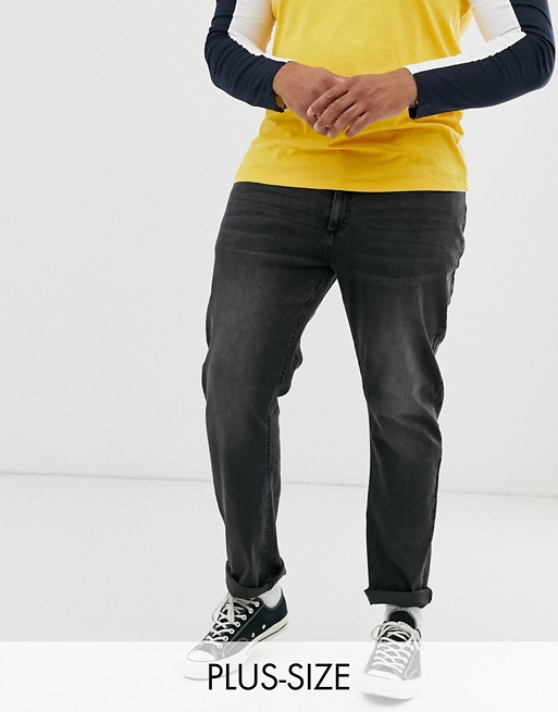 Duke - king size - Jean en denim stretch - Noir délavé