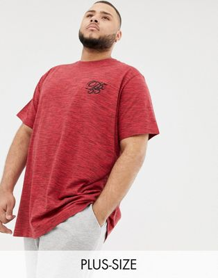 Duke - King Size - T-shirt avec logo - Rouge teint par sections