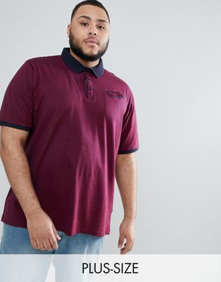 Duke Plus Pique Polo Shirt With Contrast Collar