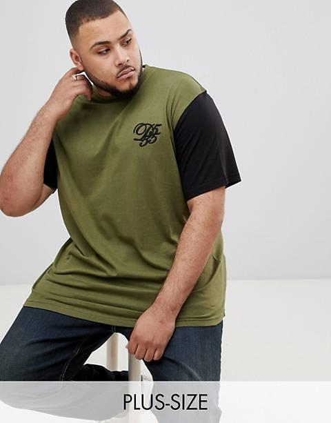 Duke – Übergroßes T-Shirt mit abgerundetem Saum, kontrastierenden Ärmeln und Logo