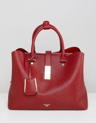 Dune - Diella - Tote bag avec bandoulière amovible - Rouge
