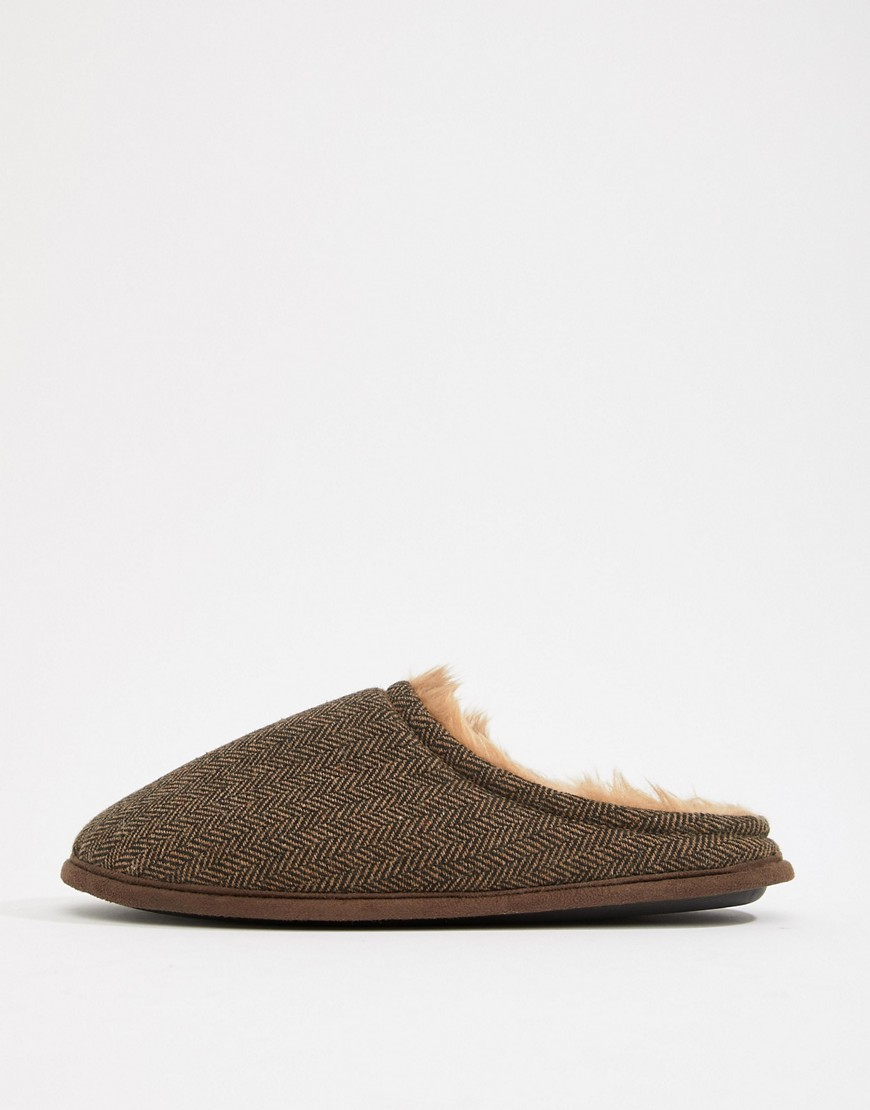 Dunlop Herringbone Slip On Slipper by Asos Brand