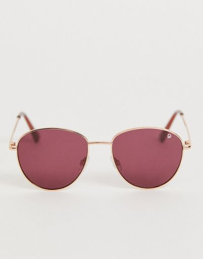 Dusk To Dawn Nouveau round sunglasses in rose gold