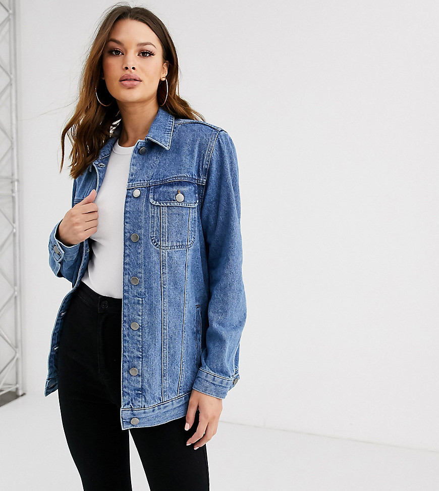 Джинсовая выбеленная куртка ASOS DESIGN Tall-Синий
