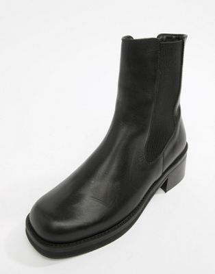 E8 by MIISTA black leather chunky sole chelsea boot