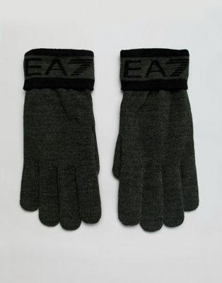 EA7 – Train Visibility – Handschuhe in Khaki mit Logo