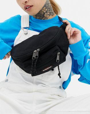 Eastpak double pocket black fanny pack