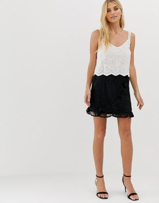 ebonie n ivory Wrap Skirt In Crochet Co-Ord