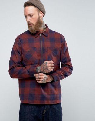 Edwin - Jesse - Chemise zippée à carreaux à enfiler