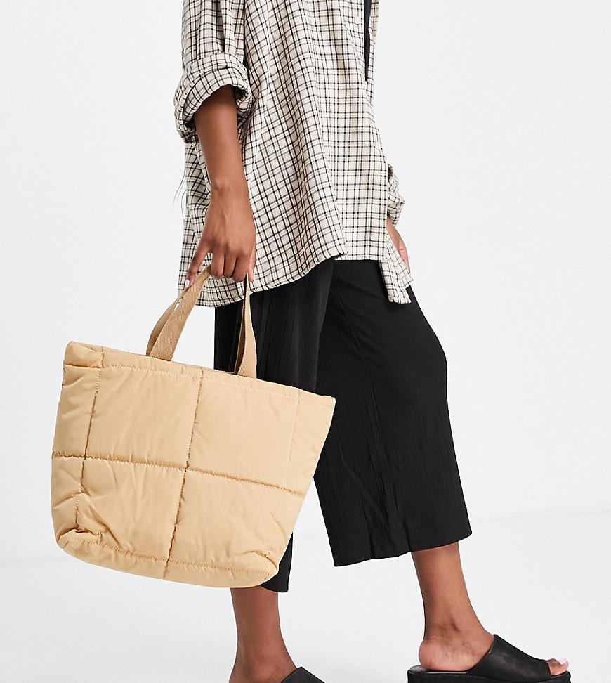 Эксклюзивная бежевая уплотненная сумка-тоут -Светло-бежевый цвет Glamorous 11286425