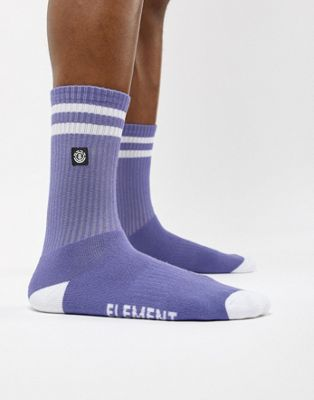 Element socks with small logo in purple