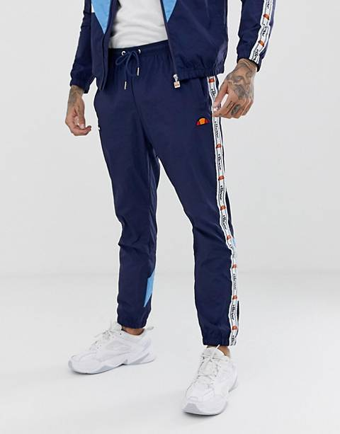 ellesse Avico co-ord track joggers with taping in navy