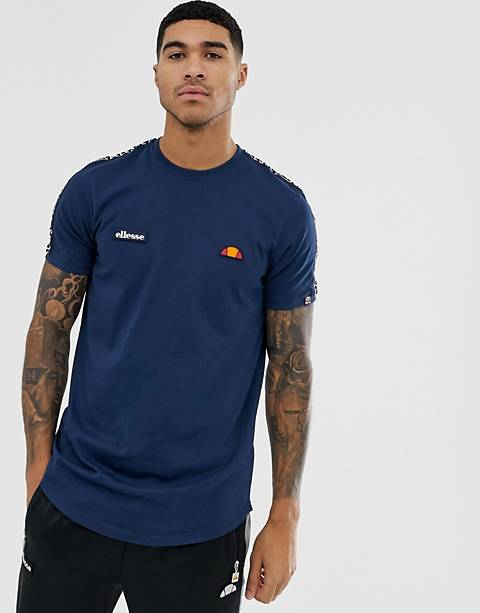 ellesse Fede t-shirt with logo taping in navy
