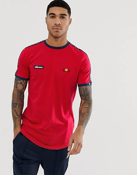 ellesse Fede t-shirt with logo taping in red
