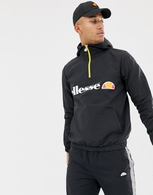 ellesse Festi Overhead Jacket With Logo In Grey