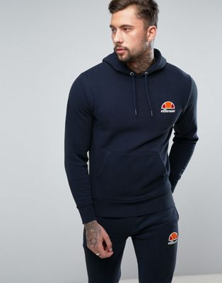 ellesse Hoodie With Small Logo In Navy