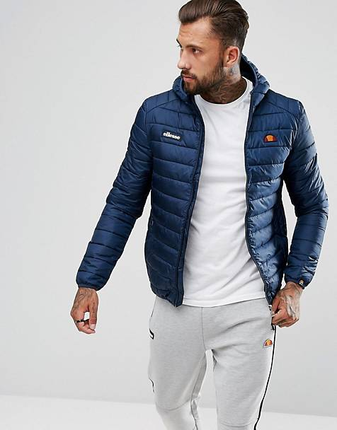 ellesse Lombardy padded jacket in navy