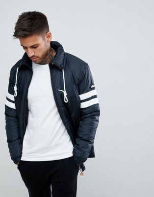 ellesse Mandial jacket with sleeve panel in black
