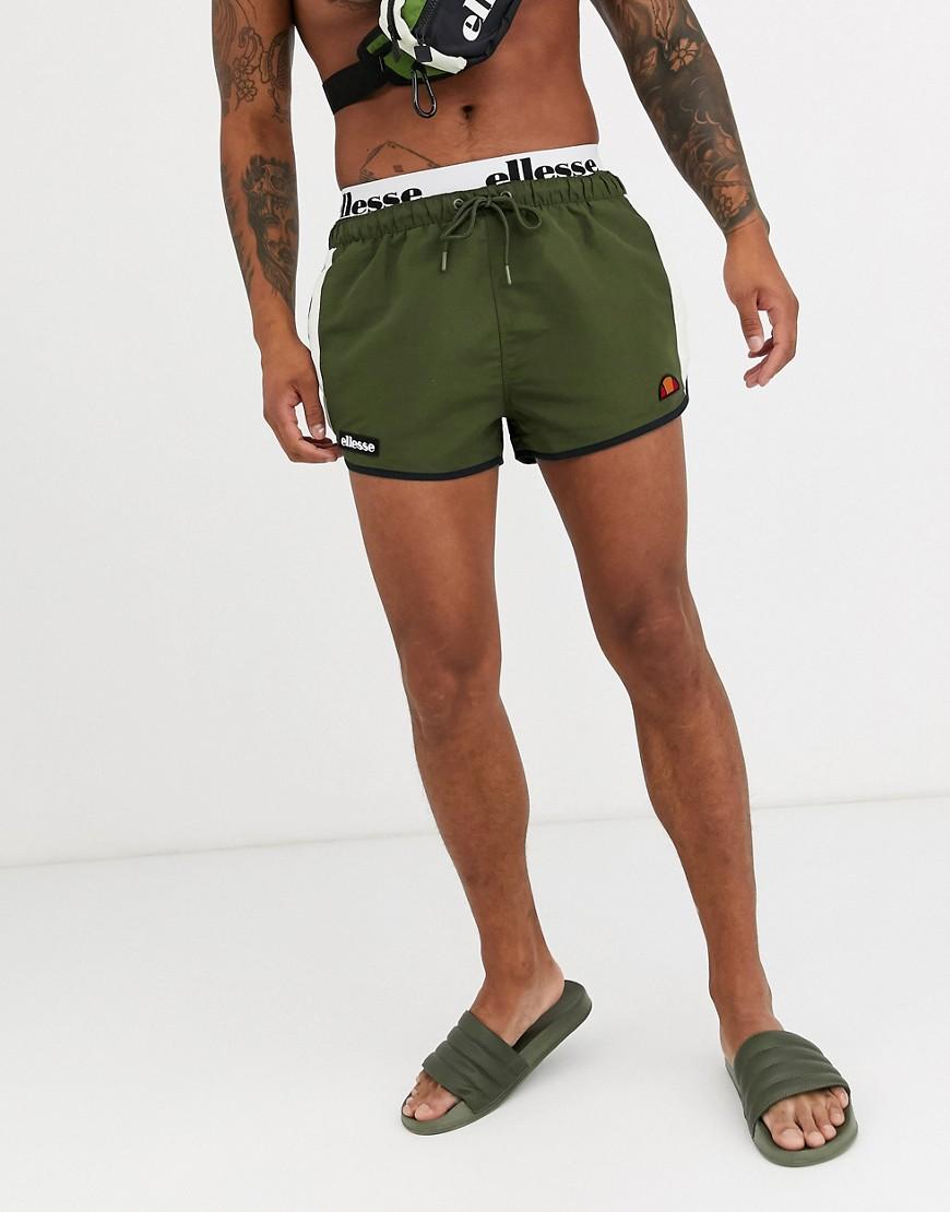 ellesse Nasello swim shorts in khaki-Green