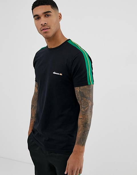 ellesse Pianto t-shirt with sleeve stripe in black