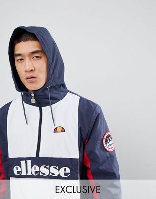ellesse Ski Overhead Fleece Lined Jacket In Navy