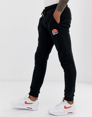 ellesse skinny sweatpants in black