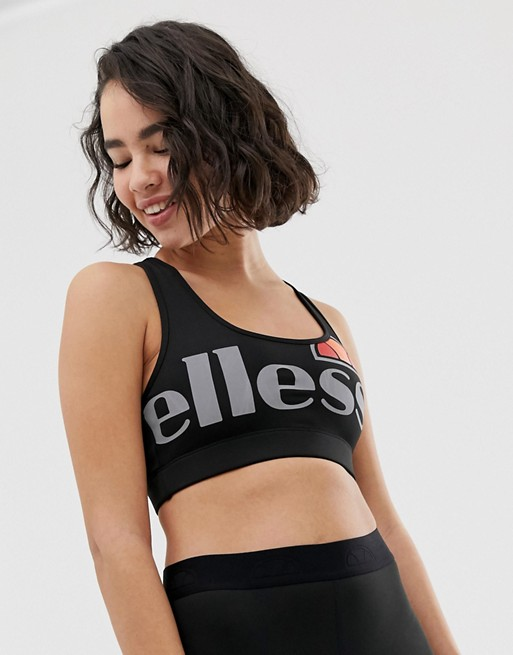 Ellesse sports bra with large logo